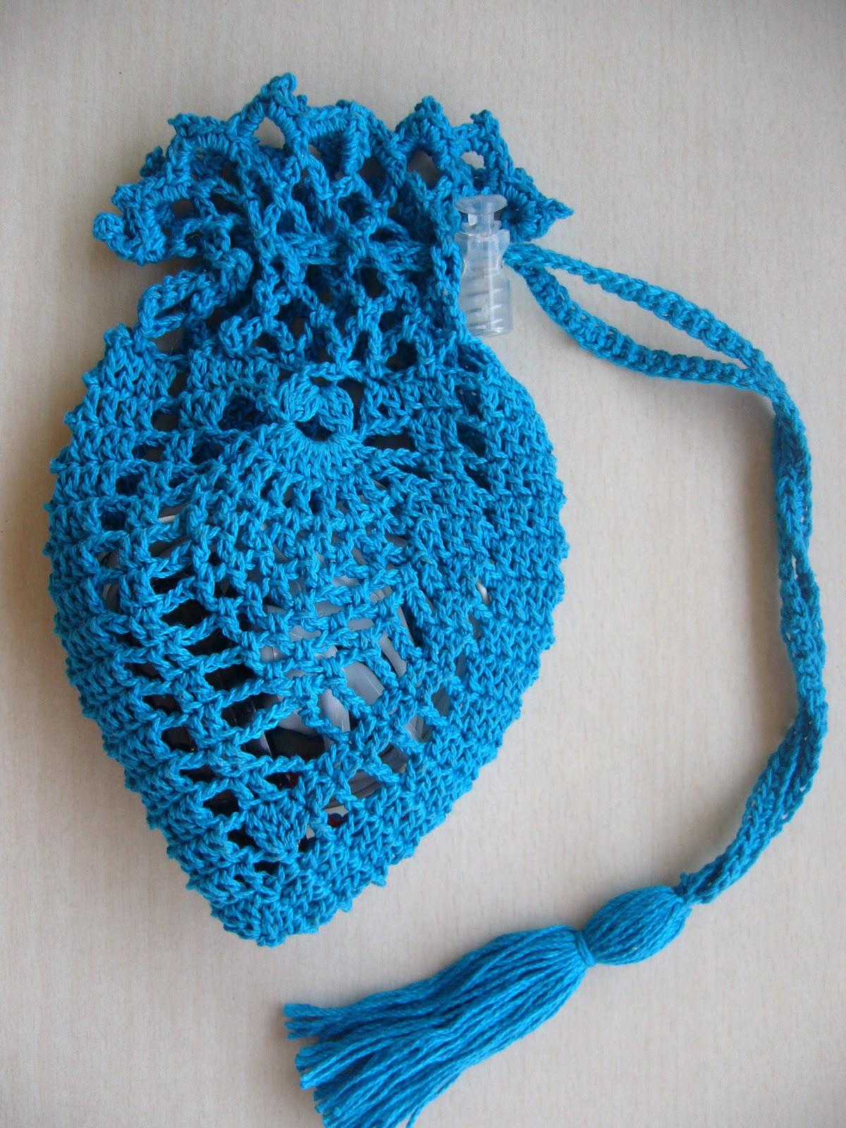 Pineapple Crochet Bag Pattern : Crochetkari: Crochet Pineapple Pouch