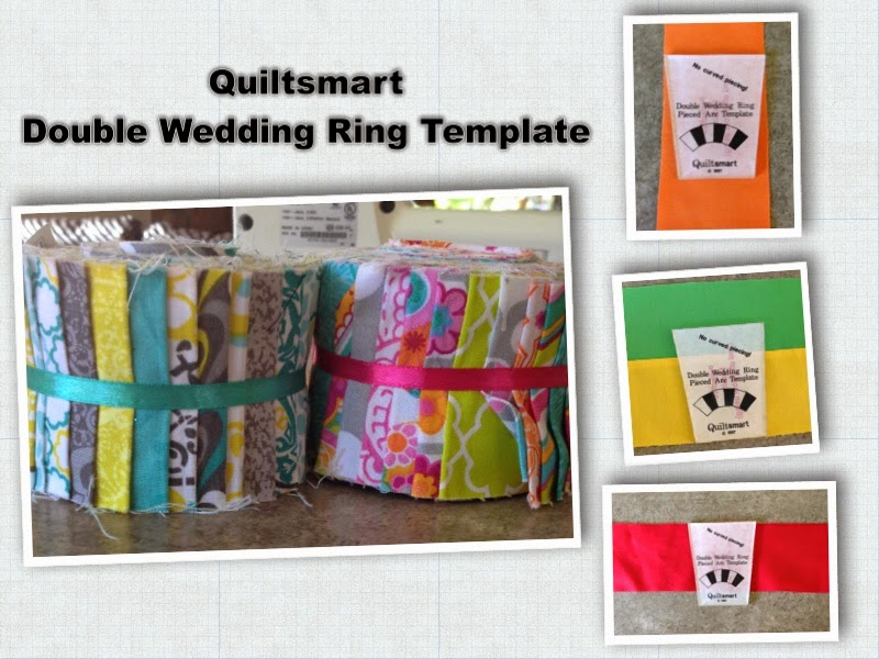 Quiltsmart Double Wedding Ring Template Collage
