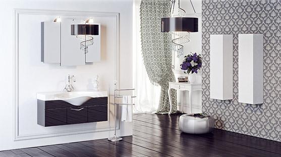 Сантехника на фото: мебель Aqwella Broadway для ванной комнаты