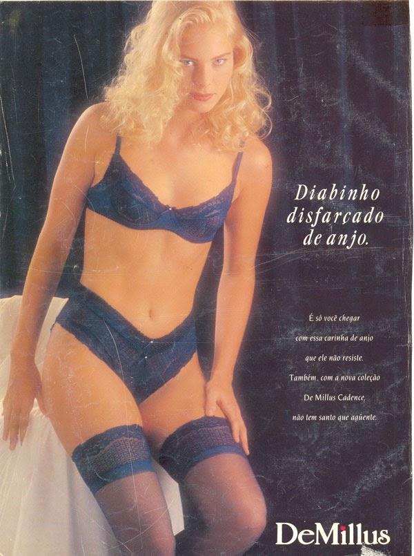 """Campanha da Demillus em 1992: """"Diabinho disfarçado de anjo""""."""