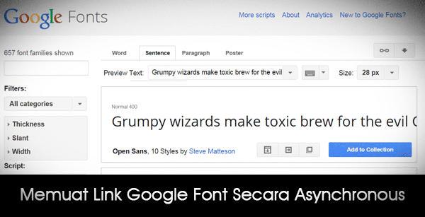 Asynchronous Link Google Font