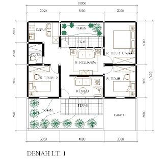 desain rumah sederhana ukuran 10 x 12 m desain rumah
