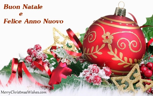 merry christmas and happy new year in italian