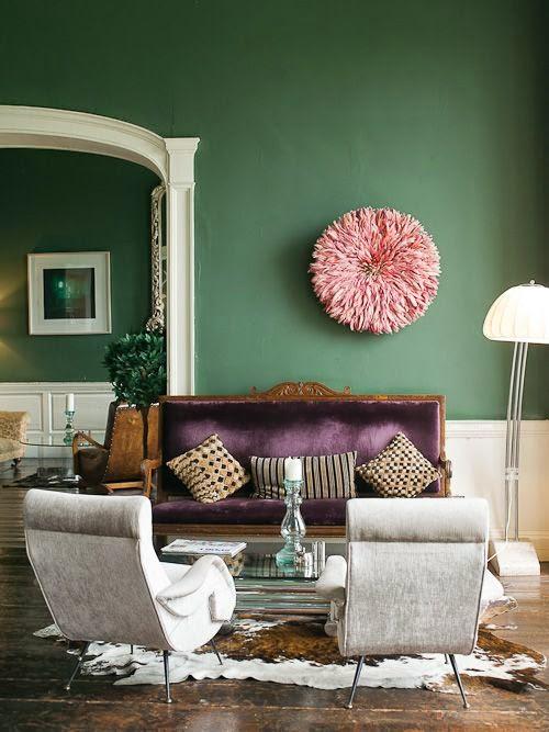decoracion de salas en verde