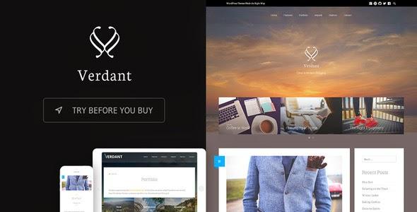 Verdant - Responsive WordPress Blogging Theme