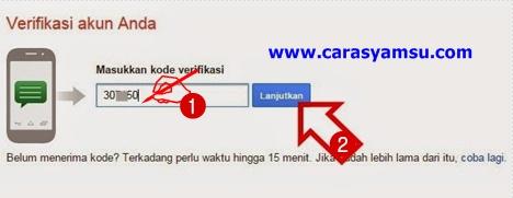 Masukkan kode verifikasi