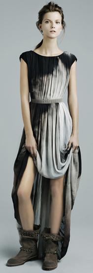 vestidos largos Zara invierno 2012