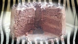 un layer angel cake chocolat
