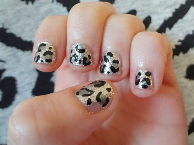 Silver Leopard Print Nails, aka Bailey