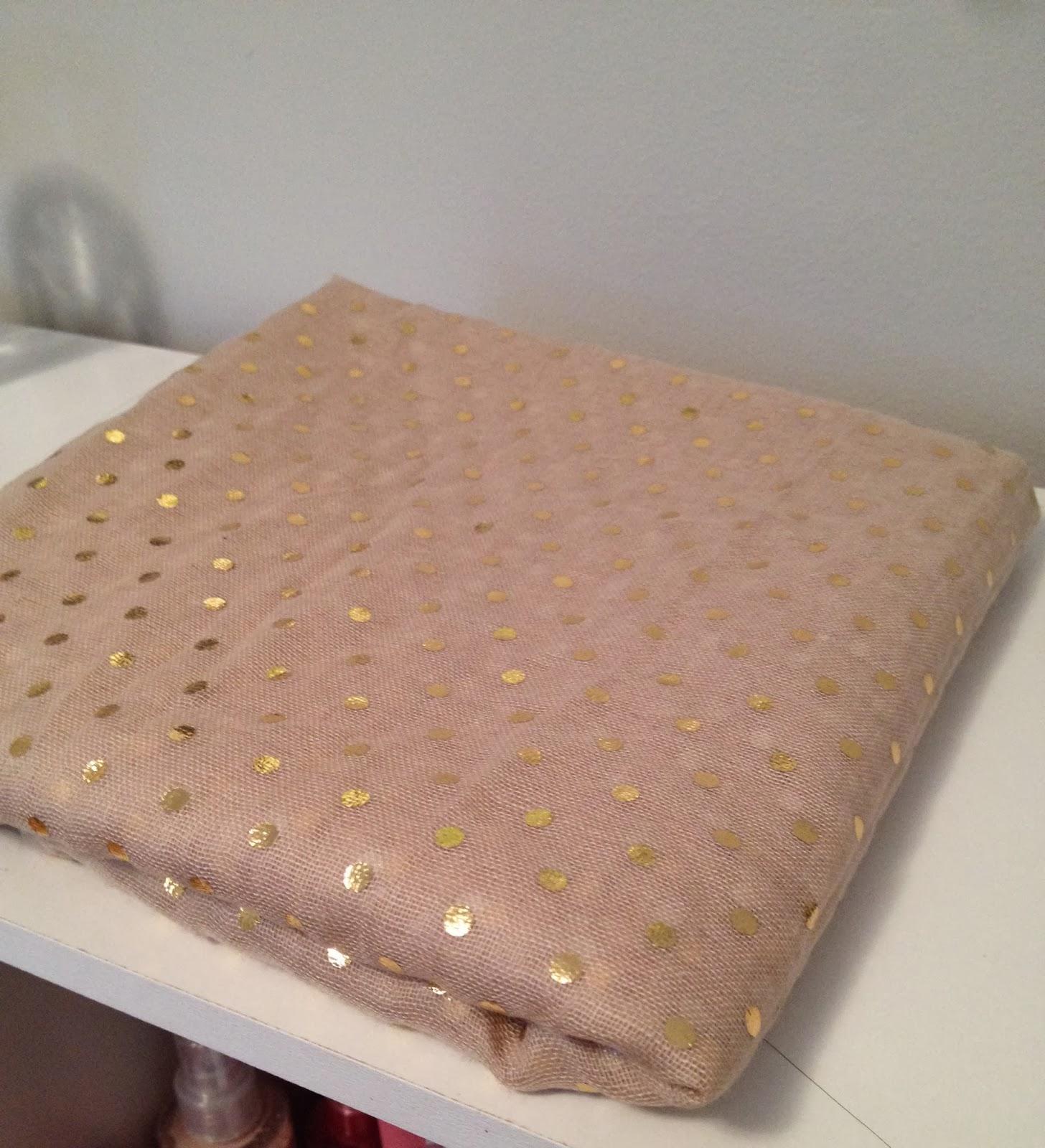 target gold polka dot scarf