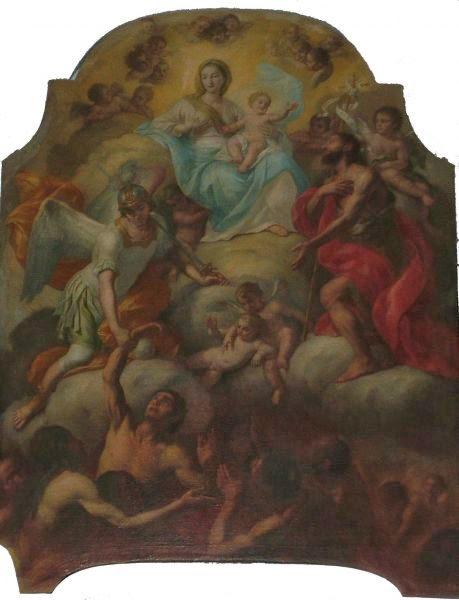 Pala dell'altare della Chiesa del Purgatorio