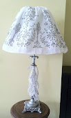 Upcycle a Lamp With Ribbons and a Skirt
