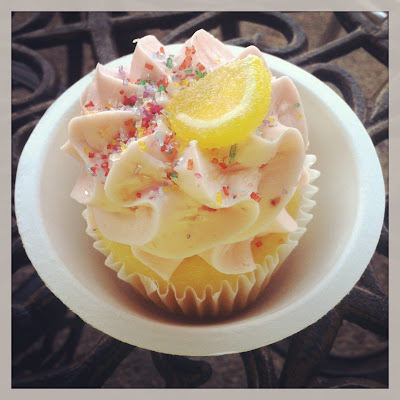 Strawberry Lemonade Cupcake via Darling Cashmere
