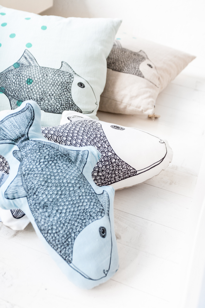 fish pillow from Femke Veltkamp / Windstilte