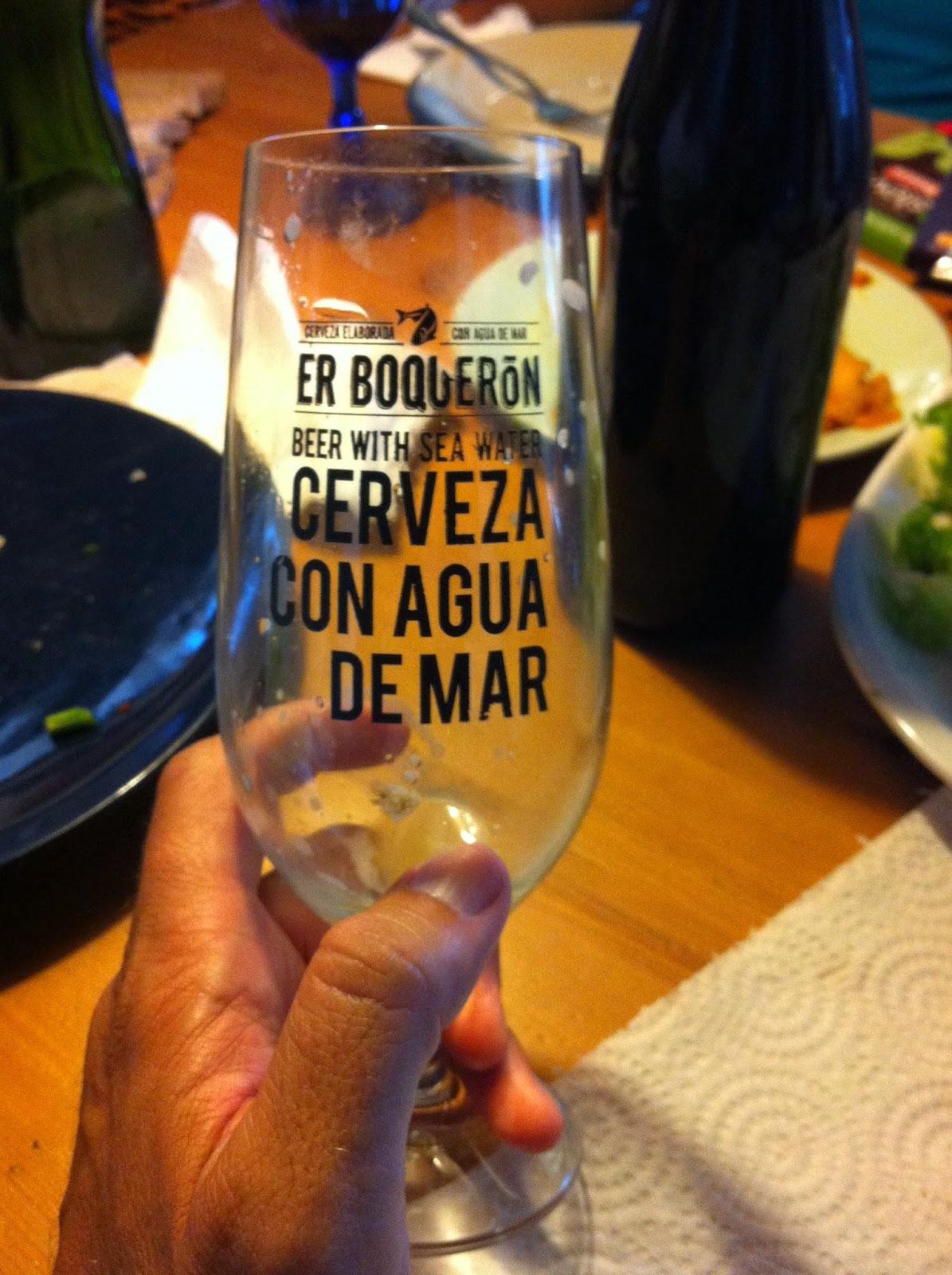 cerveza hecha con agua de mar