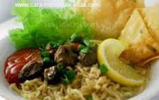 resep praktis dan mudah membuat (memasak) mie ayam pangsit spesial khas jakarta enak, gurih, lezat