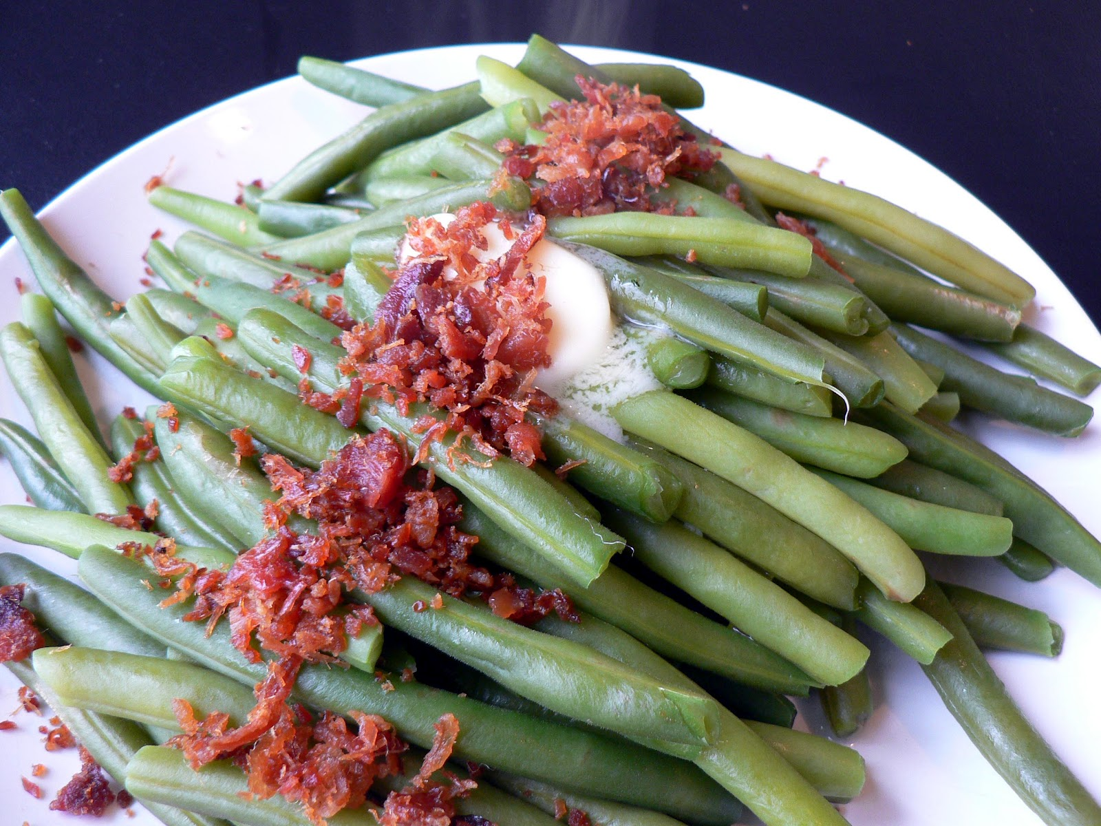 Green Beans with Butter and Bacon - Bless This Mess