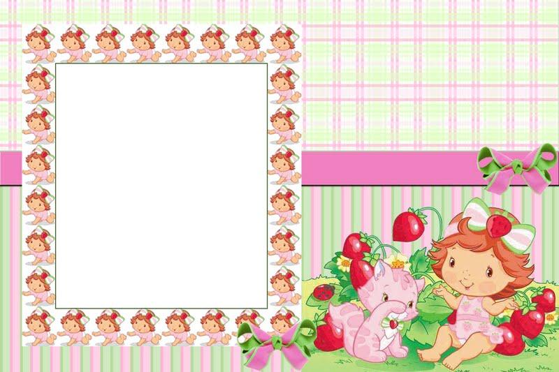 Moranguinho Baby     Kit Completo     Molduras  Convites E R  Tulos