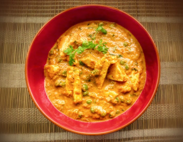 Matar Paneer (Peas and cottage cheese curry)