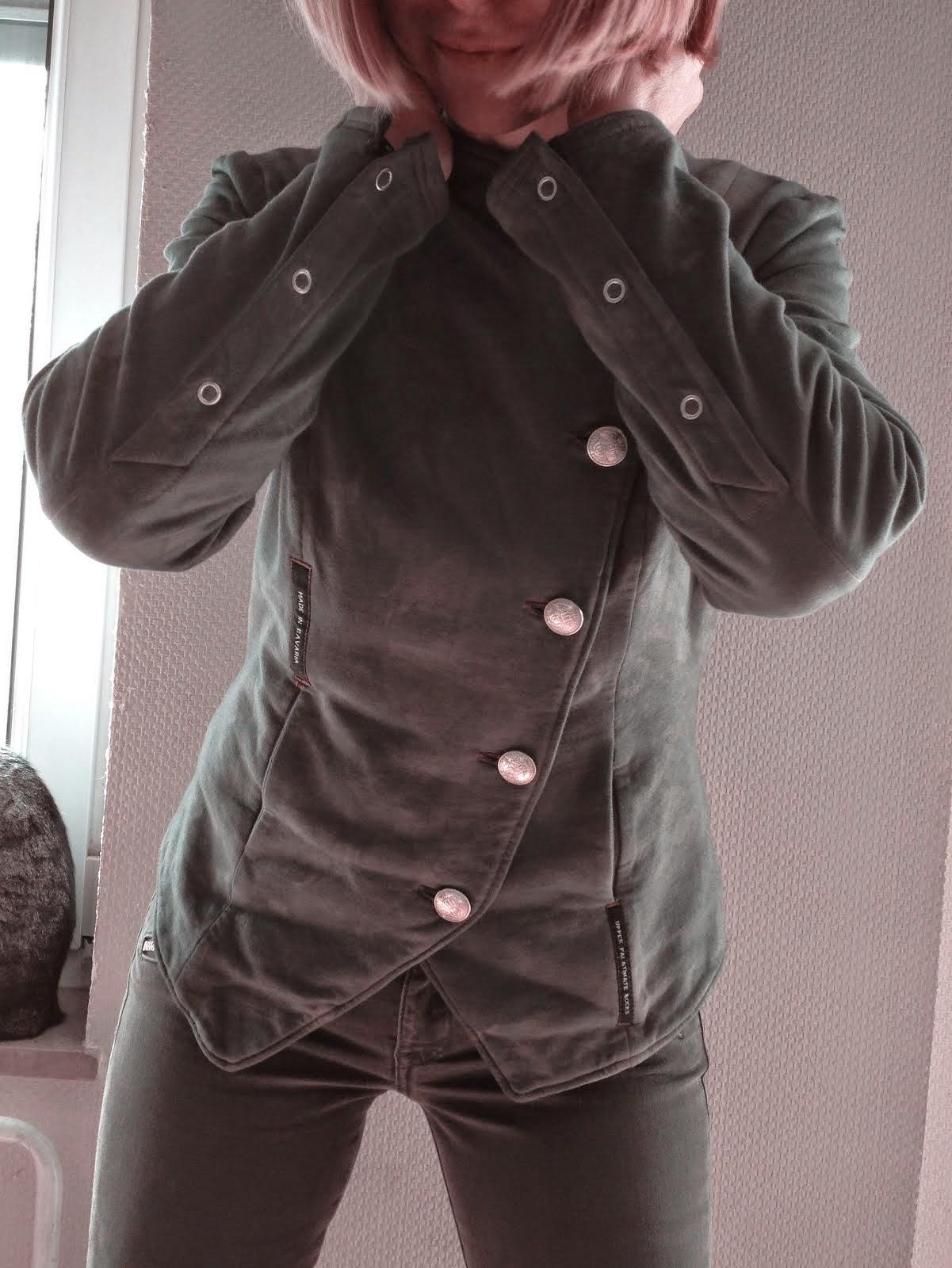 sweaterjacke oliv