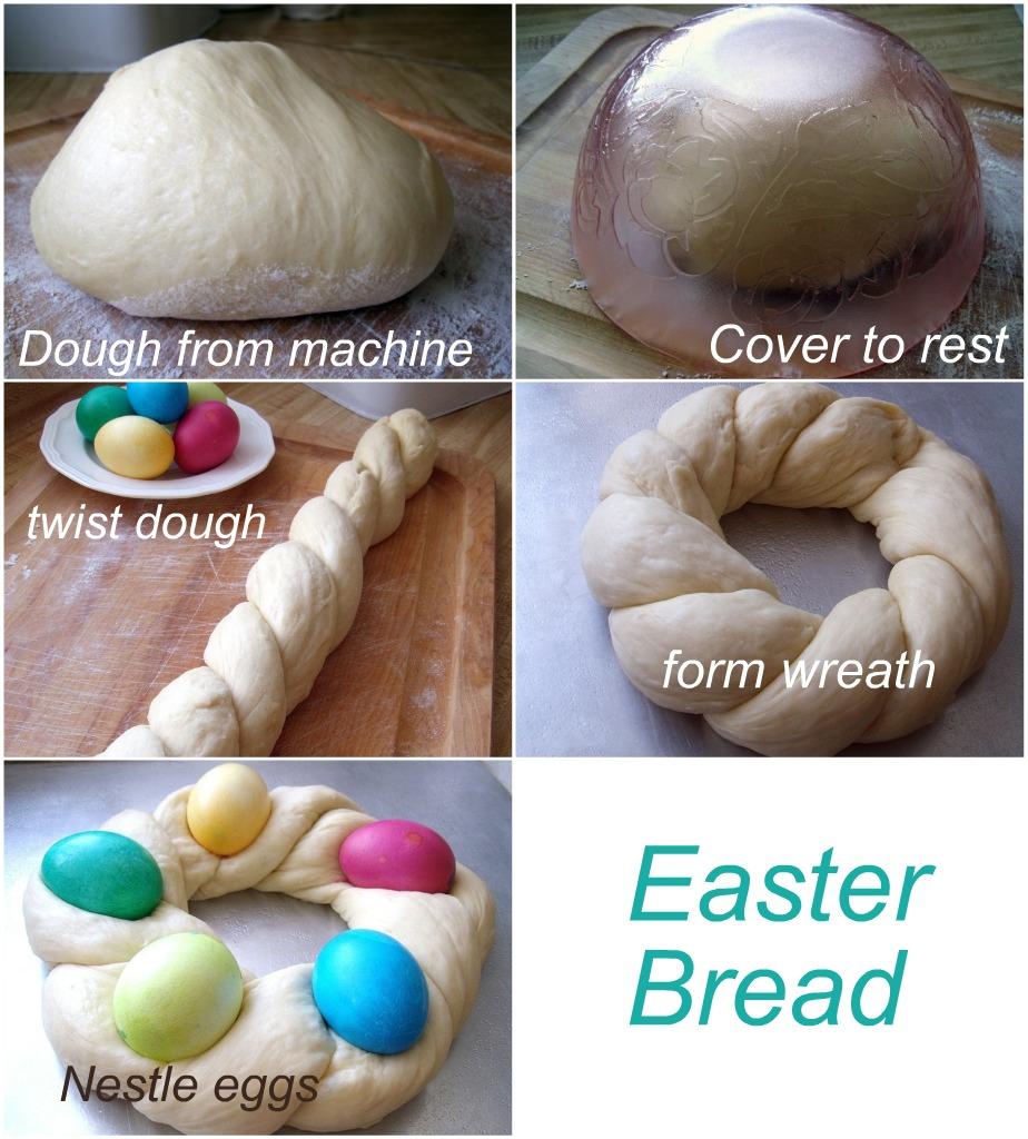 Easter Egg Braided Yeast Bread Grateful Prayer