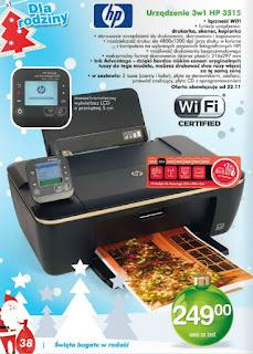 Urządzenie drukarka HP 3515 Biedronka ulotka