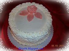 Tejszínes erdeigyümölcsös torta 3.