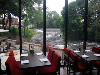 The view from the restaurant at the Roundhouse at Beacon Falls.