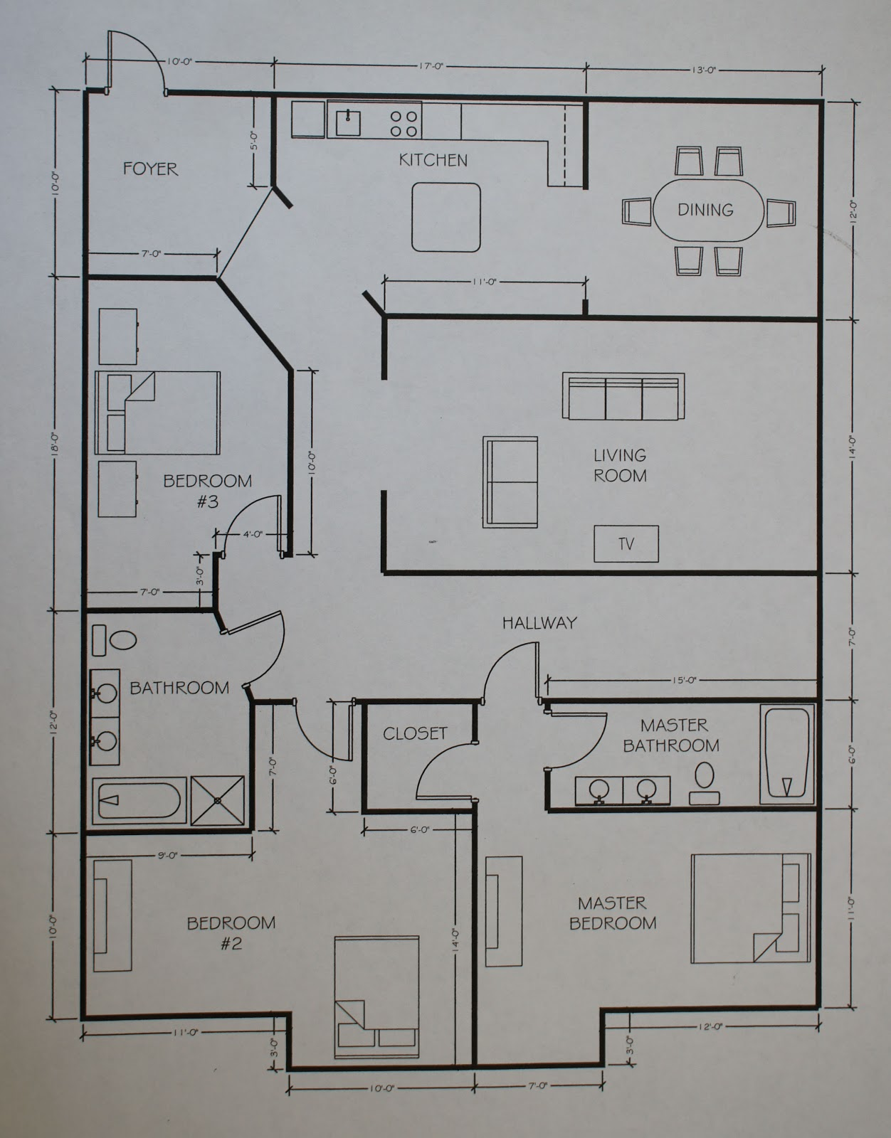 Everybody is a genius remodel for Area of a floor plan