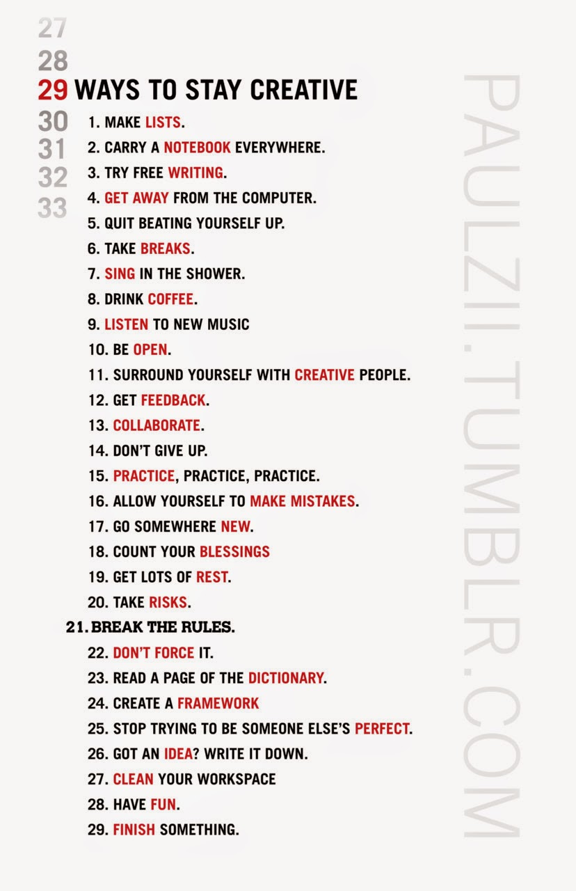 29 Ways to Stay Creative 02