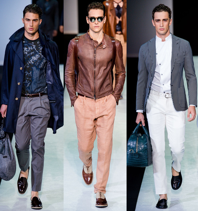 giorgio armani mens spring 2014 blue suits