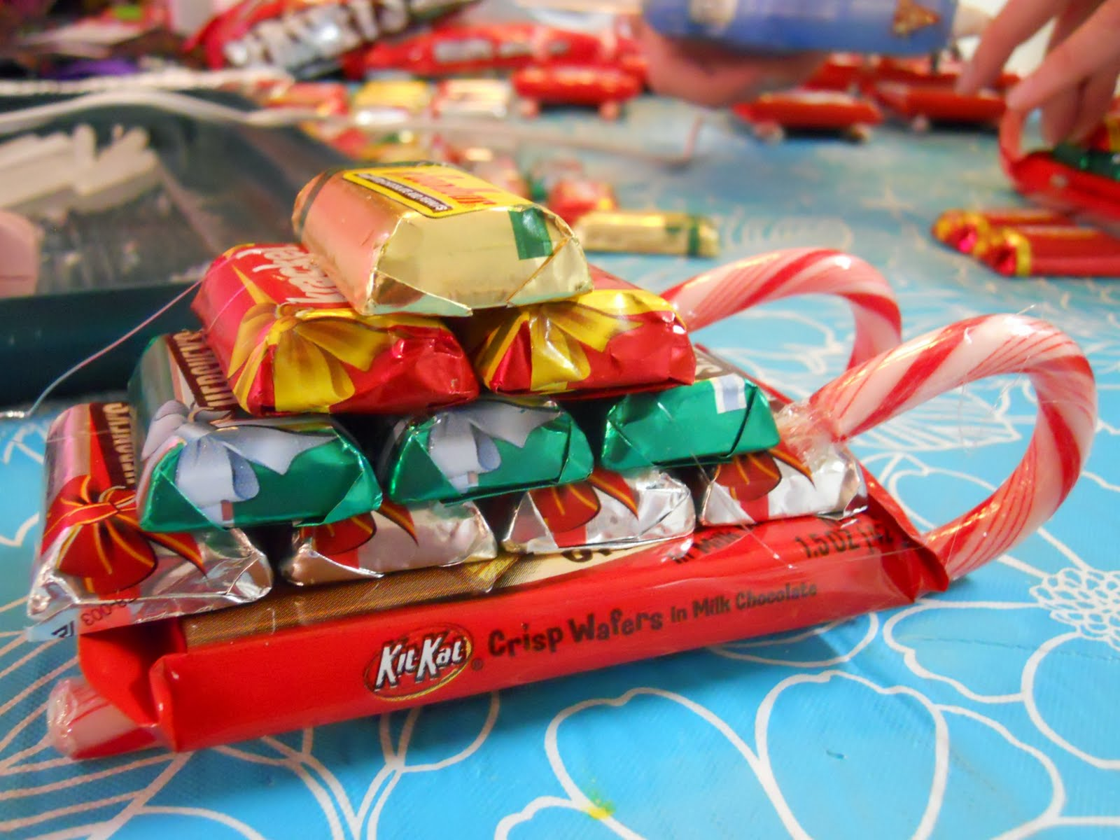 candy made sleighs made with kit kats and candy canes | just b.CAUSE
