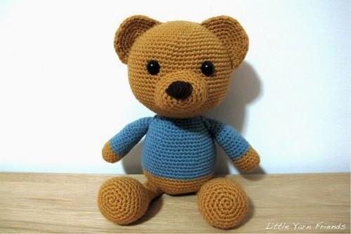 Pattern Amigurumi Angry Birds : Free Teddy-Bear Pattern: Lil Classic Teddy Free ...