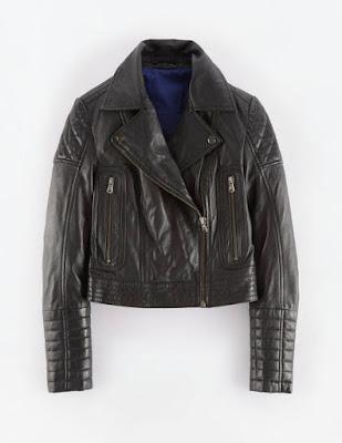 Boden Leather Biker Jacket