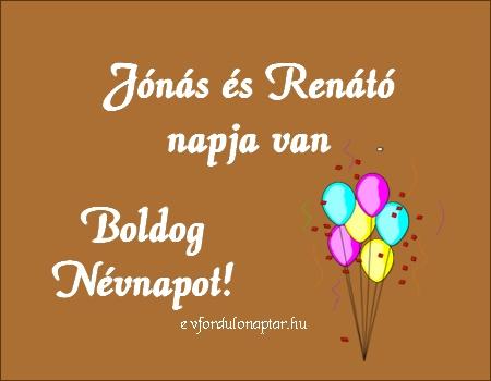 November 12 - Jónás, Renátó névnap