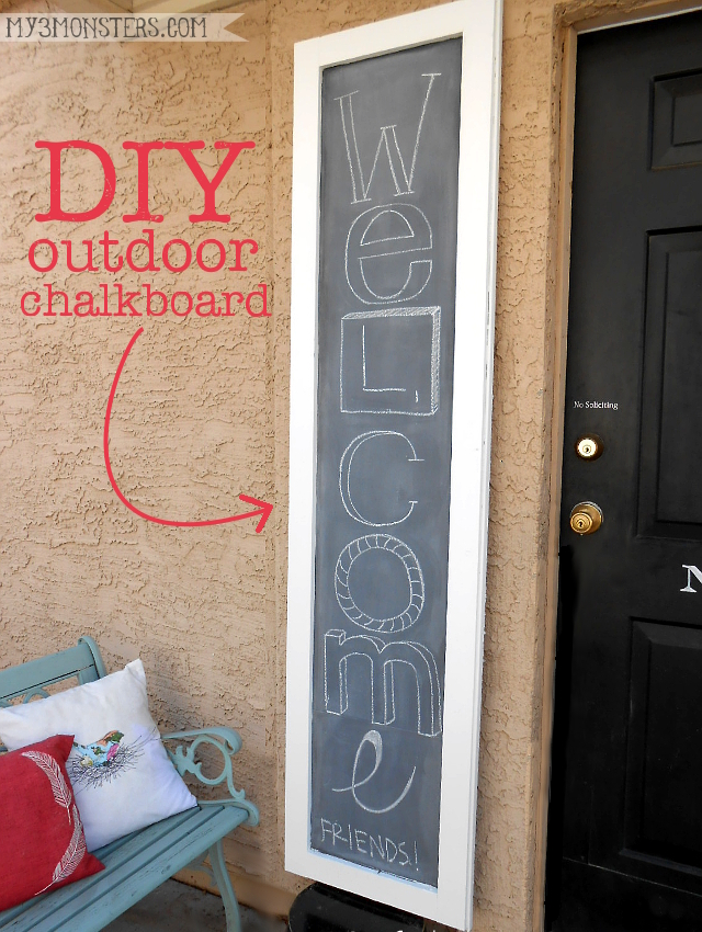 DIY Outdoor Chalkboard Project at my3monsters.com