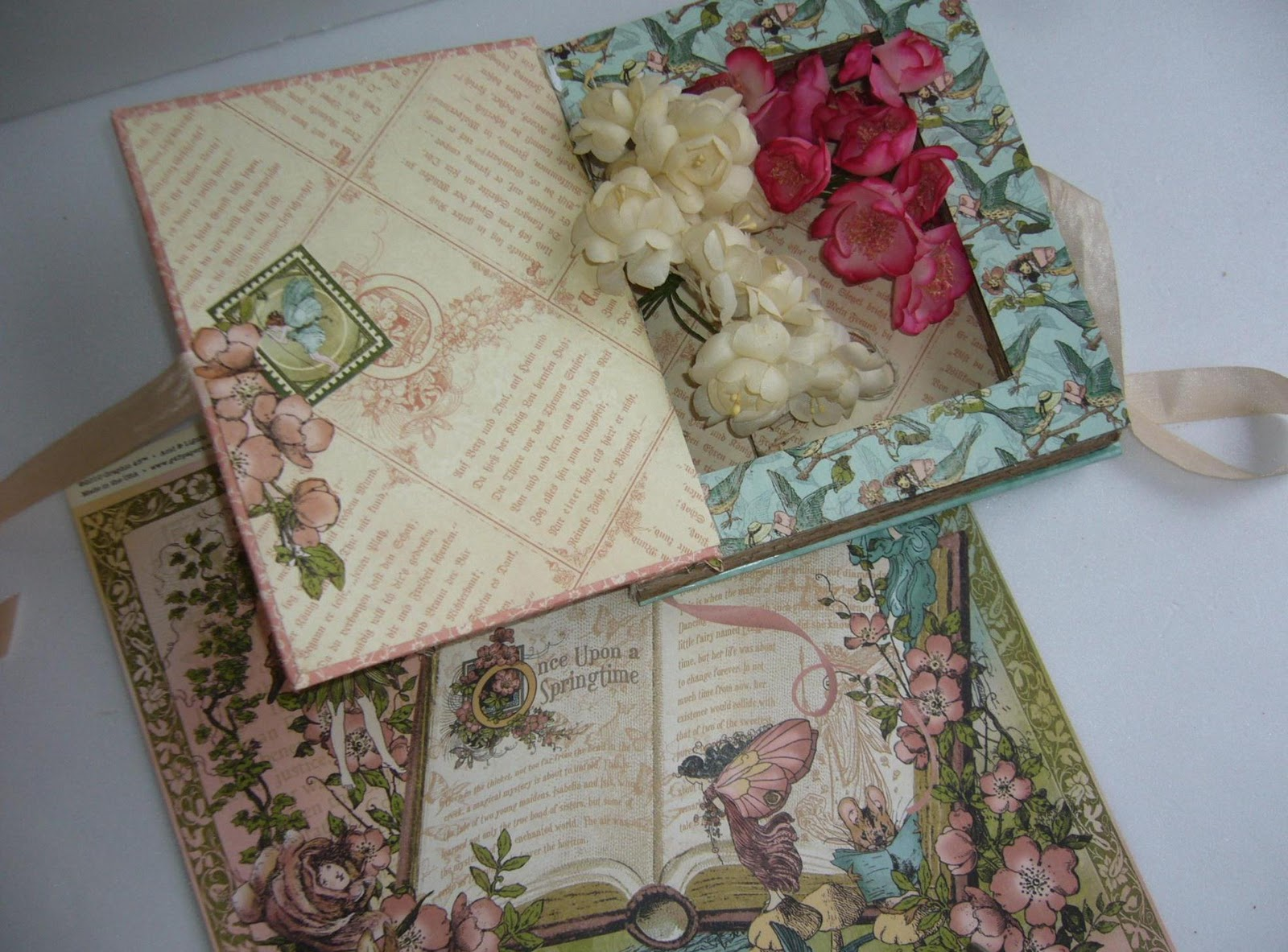 papeis de scrapbooking Graphic 45 Once Upon a Springtime Collection: #673C3B 1600x1183