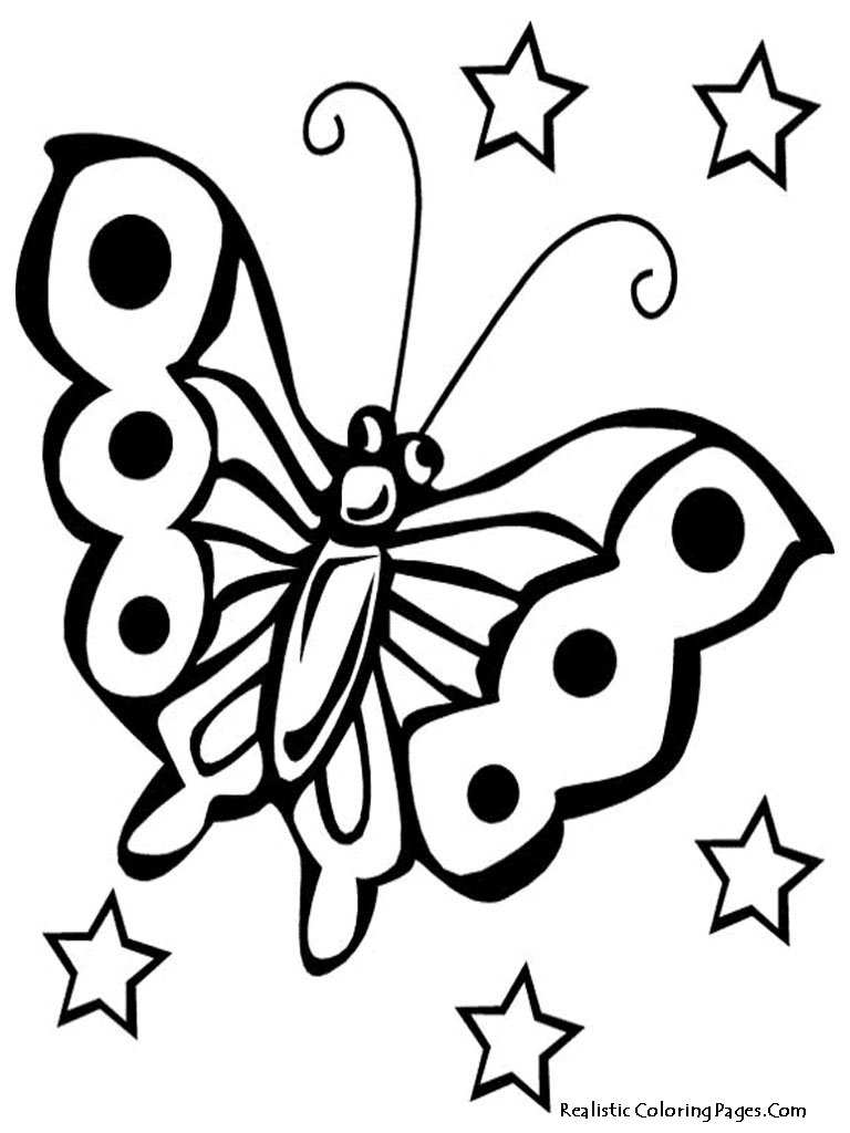realistic butterflies coloring pages - photo#35