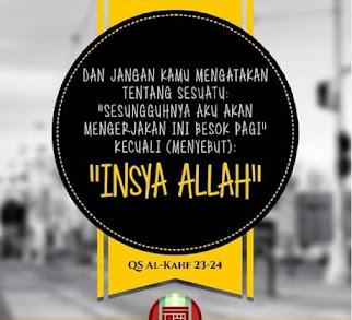 """Jangan remehkan """"Insya Allaah"""""""