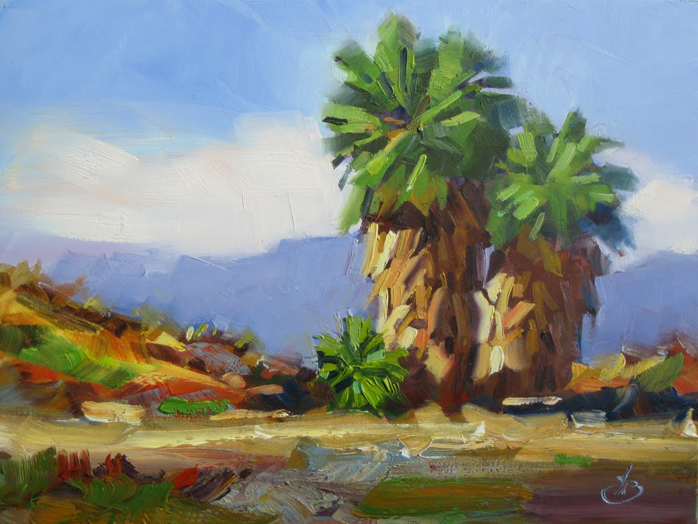 Tom brown fine art october 2011 for Painting palm trees