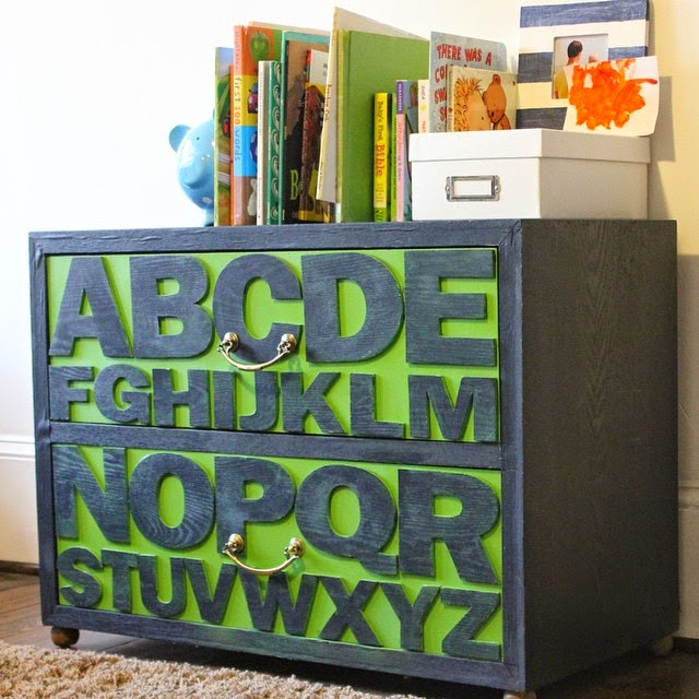 #thriftscorethursday Week 32 | Instagram user: restlessarrow shows off this thrifted ABC Dresser, originally from Pottery Barn