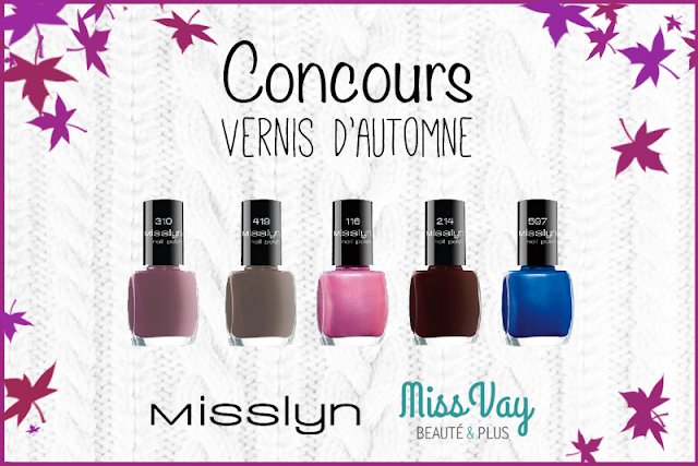 Concours vernis à ongles Misslyn Miss Vay