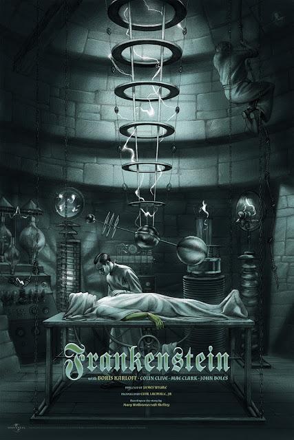 Frankenstein Standard Edition Movie Poster Screen Print by Jonathan Burton & Mondo