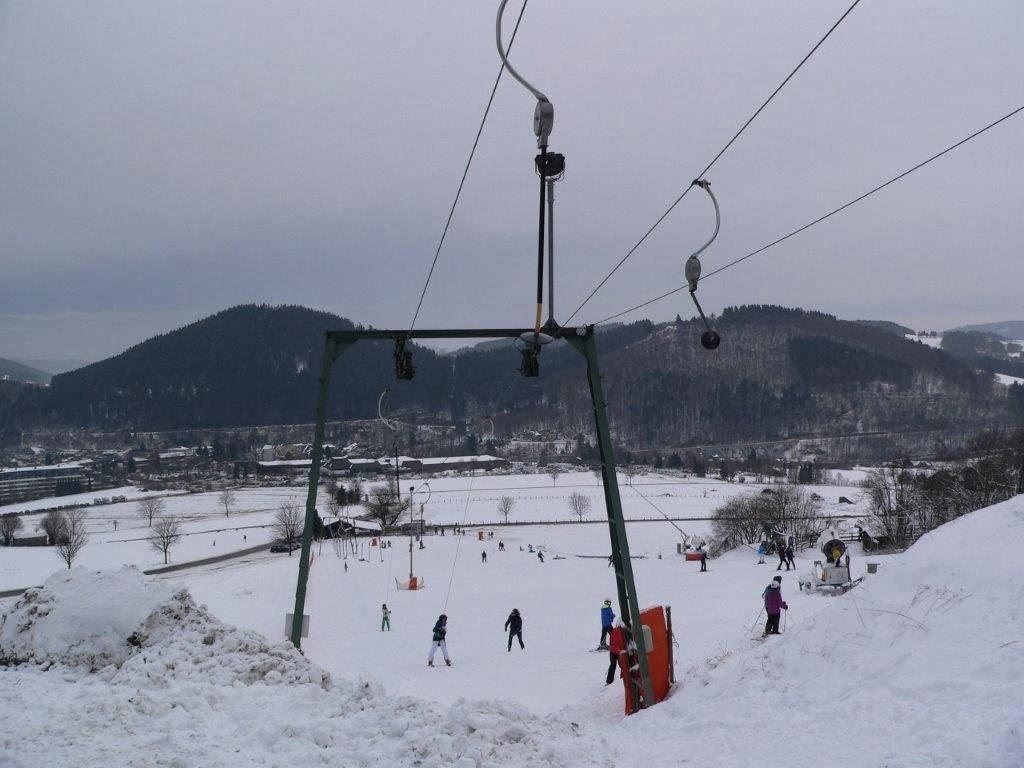Schnee Ski Springen Lift Aussicht