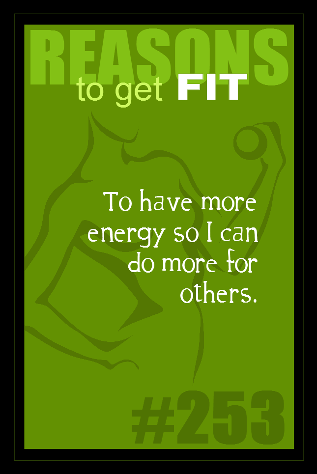 365 Reasons to Get Fit #253