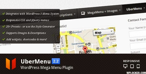 UberMenu WordPress Mega Menu Plugin Version 2.2.2 free