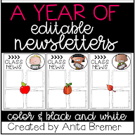 EDITABLE NEWSLETTERS FOR ALL YEAR