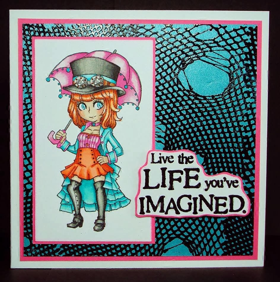 ripped fishnet stamp - live the life you imagined - visible image