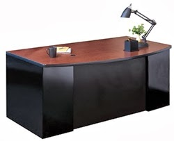 Mayline Bow Front Office Desk