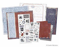 Creative Memories, Hockey, stickers, scrapbook paper